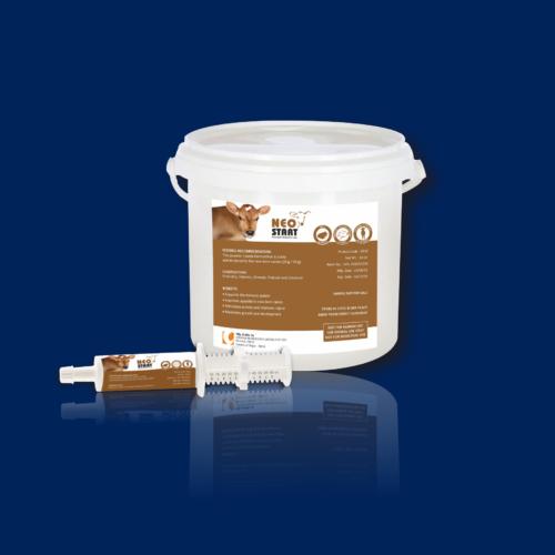 Packaging of NEOSTART - Improved Ruminal Health, Maintain the rumen osmolarity, Neutralizes the acid content in the rumen, Improving health of cattle,
